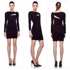 Pierre Balmain Cut Out mini Dress black LBD XS